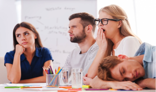 Image of bored employees